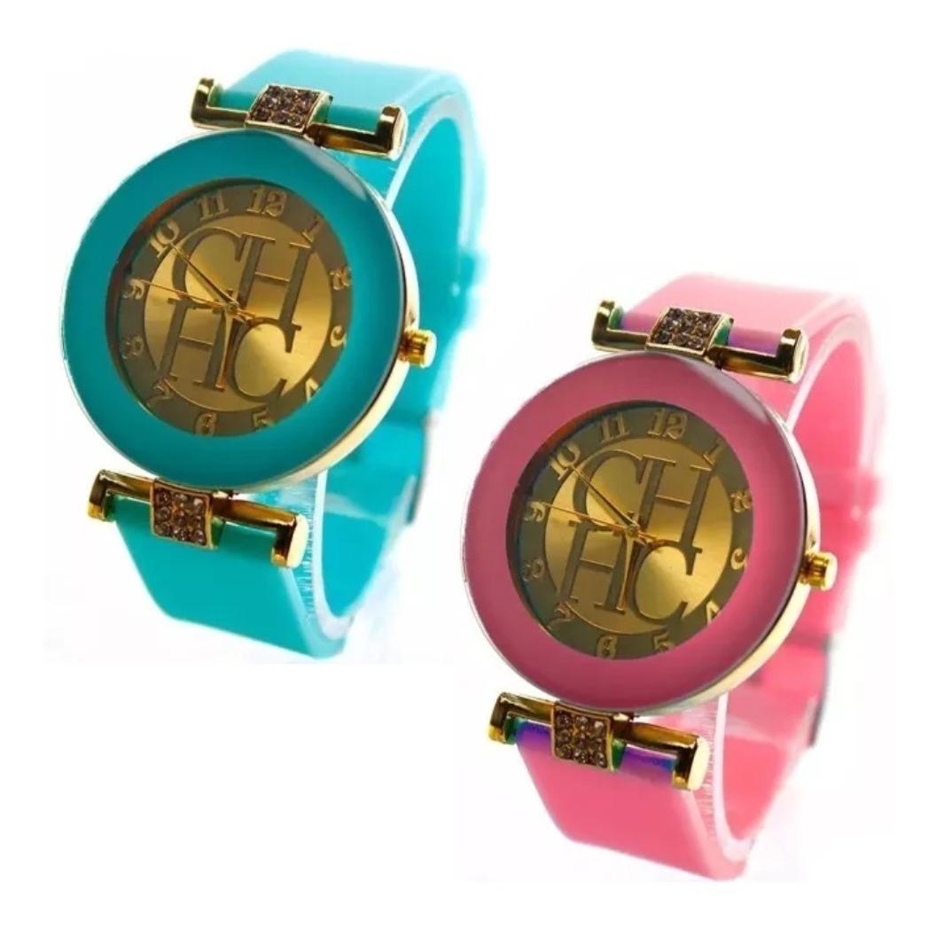 Reloj Dama Carolina Herrera Con Brillantes Ch Geneva Mk