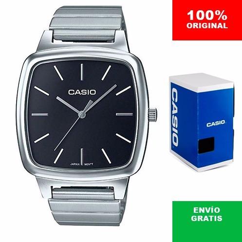 reloj dama casio ltpe117 cara negra - cristal mineral - cfmx