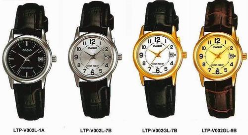 reloj dama casio ltpv002 - cristal mineral - cfmx