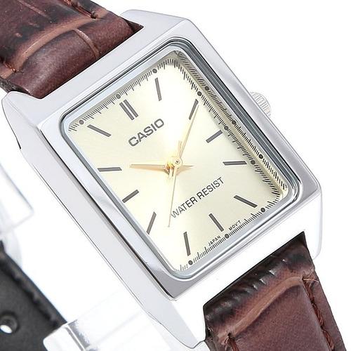 reloj dama casio ltpv007 cara blanca cristal mineral - cfmx