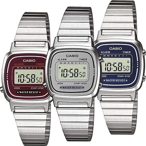 Colores Varios Reloj Retro Vintage Acero Dama Casio La670 wOknPXN80Z