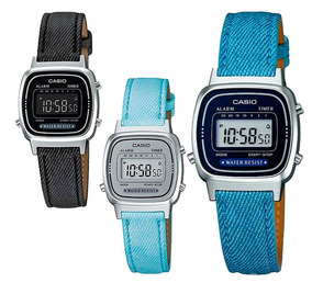 45f9e9ad8d46 Reloj Dama Casio Retro Vintage La670 Lona 100% Original Cfmx