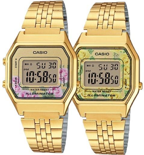 b1f0bc0087b7 Reloj Dama Casio Retro Vintage La680 Flores Dorado - Cfmx ...