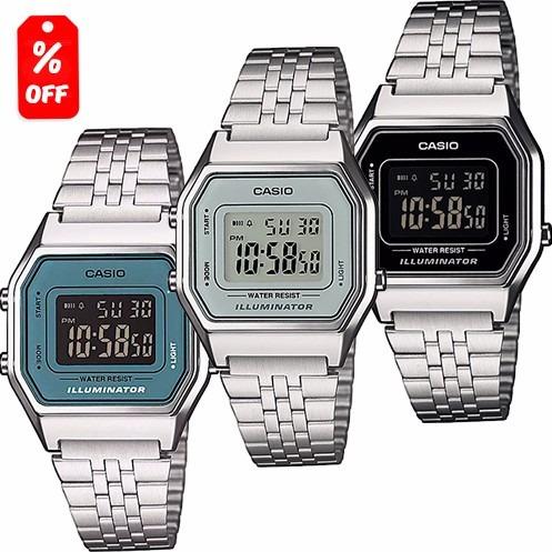 7cf5783ae7f2 Reloj Dama Casio Retro Vintage La680 Plata - Original Cfmx ...