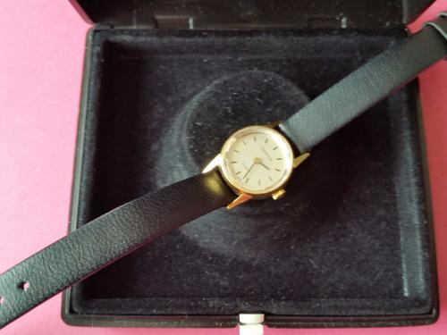 reloj dama certina 18k oro sólido