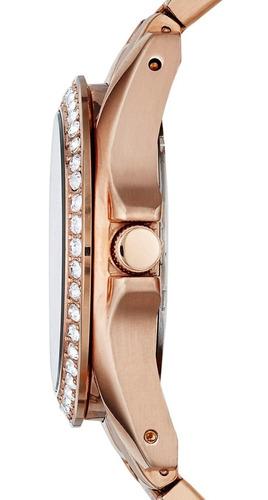 reloj dama fossil es2811 color oro rosado de acero