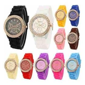 Reloj Dama Geneva Cristales Brillantes Varios Colores