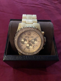 265e9aba2 Relógio Michael Kors Mk8177 Ceramica Branco, Original. - Reloj de ...