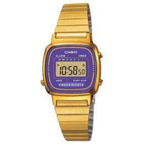 0ba405c77d48 Morado Con Reloj Pulsera Para Dama - Reloj Casio en Mercado Libre México