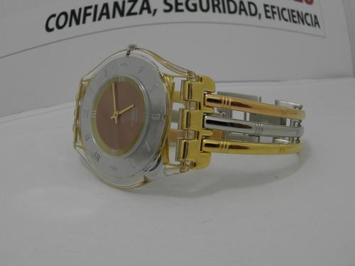 reloj dama swatch sfk-240b extraplano100%original  tres oros