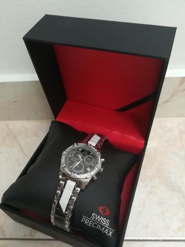 reloj damas swiss precimax desire elite ceramic diamond