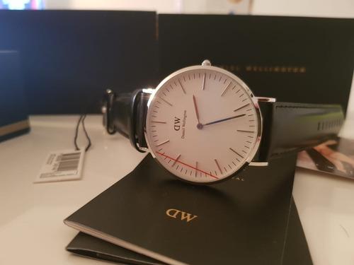 reloj daniel wellington classic sheffield 40 mm silver white