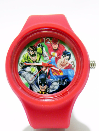 reloj dc coleccionable liga de la justicia batman,superman.