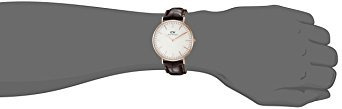 reloj de acero inoxidable 0111dw classic york daniel welli