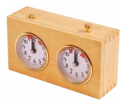 reloj de ajedrez a cuerda madera ventajedrez