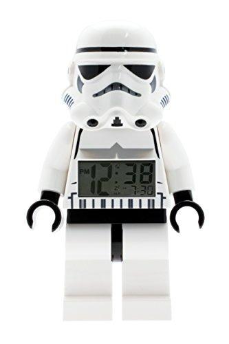 reloj de alarma de figura de star wars stormtrooper de lego