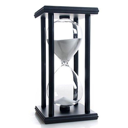 Reloj De Arena 60 Minutos Blanco Arena Temporizador Negro Ma