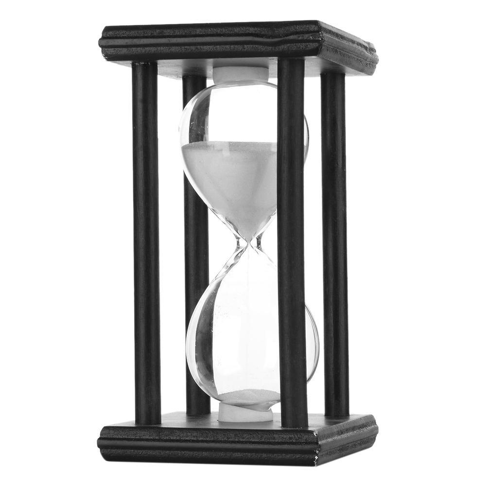 Reloj De Arena Creativo De 30 Minutos Blanco Negro 51900 En