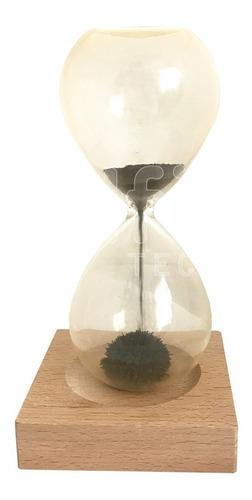 reloj de arena magnetico con base imantada diseño deco hogar