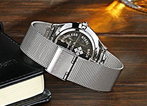 reloj de banda de malla para hombre de élite wwoor para homb