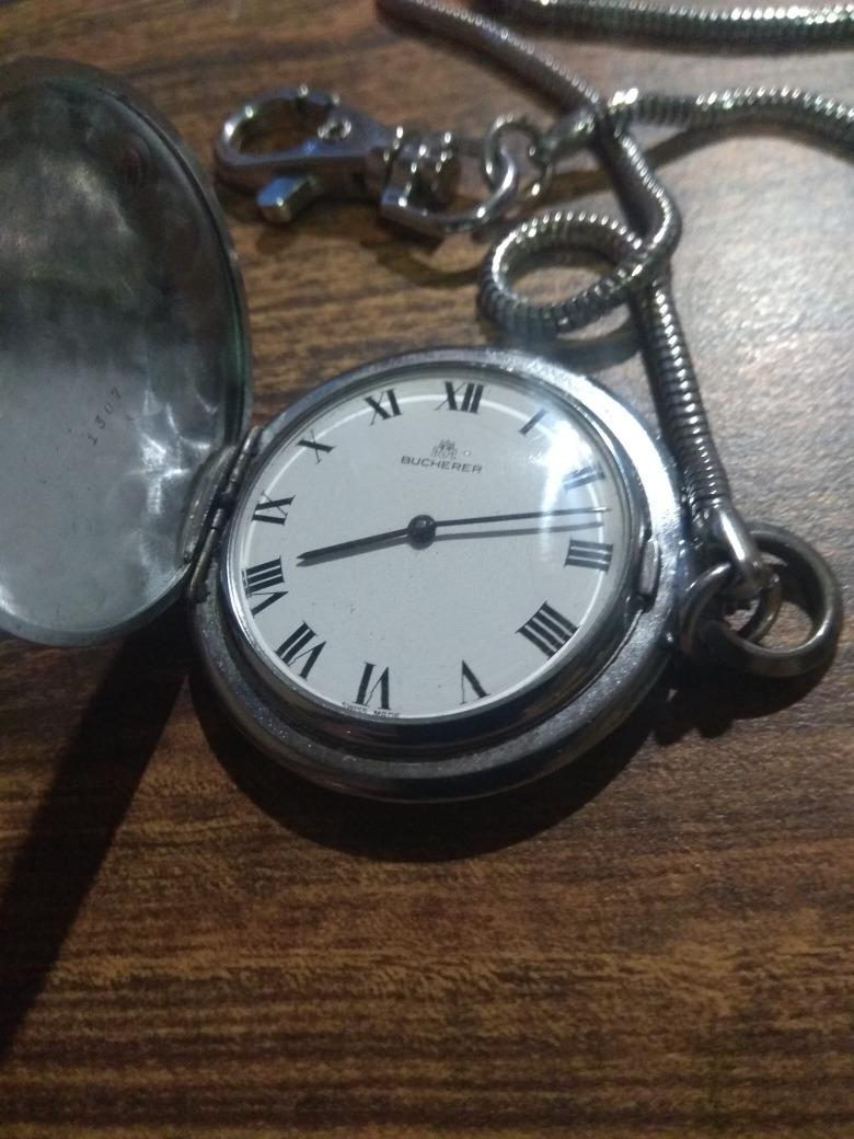 f8e9b34660a Reloj De Bolsillo Bucherer By Rolex De Plata