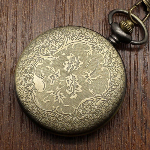 reloj de bolsillo con grabado de pato de canada excelente