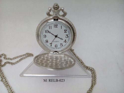 reloj de bolsillo cuarzo estilo antiguo relb-021 (pieza)