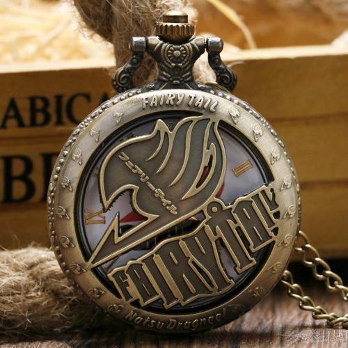 reloj de bolsillo de fairy tail