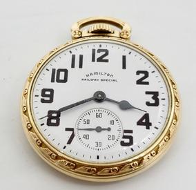 Special Oro De Bolsillo Railway Chapa Hamilton Reloj LSGzMVUqp