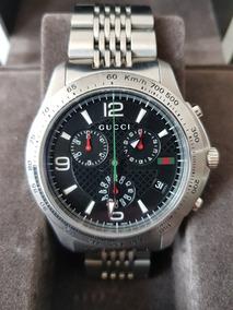 fbfd9f47b2 Reloj De Caballero Gucci Cronografo Quarzo Con Estuche Excel