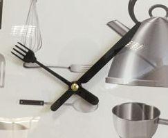 Pila De Cocina | Reloj De Cocina Con Minutero En Tenedor Y Cuchillo 1 Pila Aa