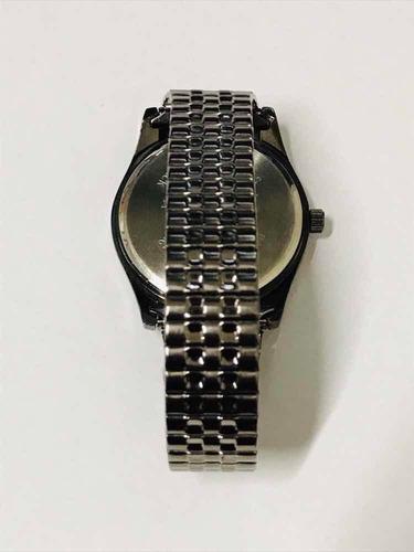 reloj de correa elástica acero inoxidable japan movement