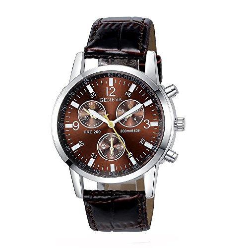 7aa04e3a6cfc Reloj De Cuarzo De Cuero Para Hombre De Ginebra 6 Piezas Fii ...