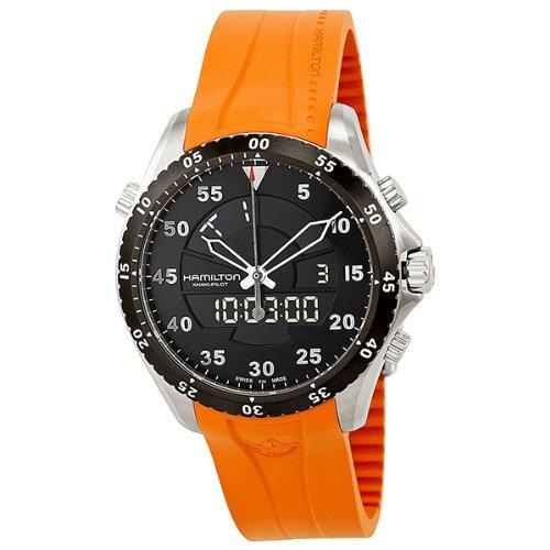 reloj de cuarzo h hamilton khaki flight timer aviación cuar