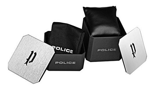 reloj de cuarzo para hombre police negro caja de acero inoxi