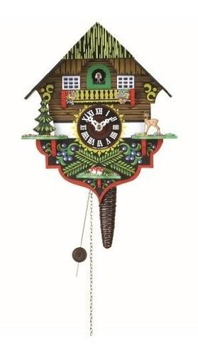 reloj de cuco quarter call con movimiento de 1 día black for