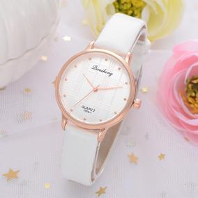 59308cb6562e Reloj De Dama Juvenil Quartz Blanco Slim El Mejor Regalo.   399