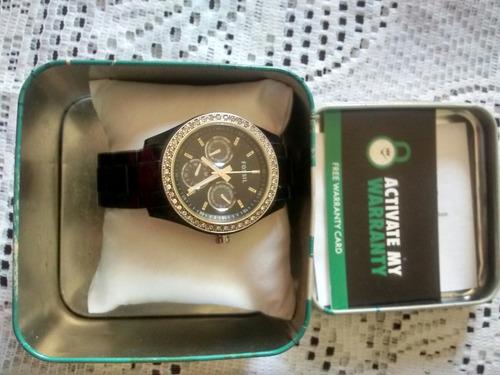 7545bb6b8969 Reloj De Dama Marca Fossil Negro Original - Bs. 10.000