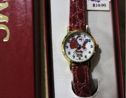 reloj de dama motivo navideños