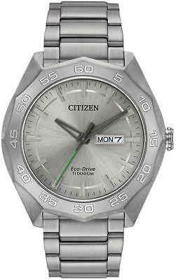 Reloj De Día Y Fecha Citizen Eco drive Titanium Para Hombre