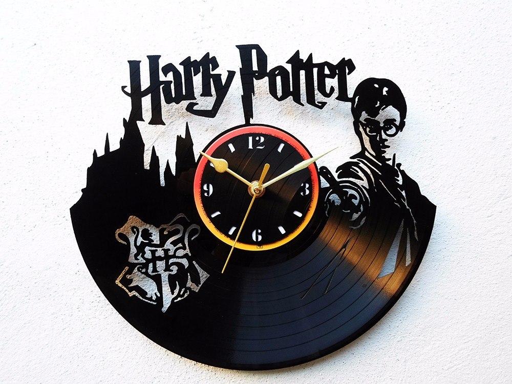 Reloj de disco vinil vinilo acetato lp harry potter Vinilos pared harry potter