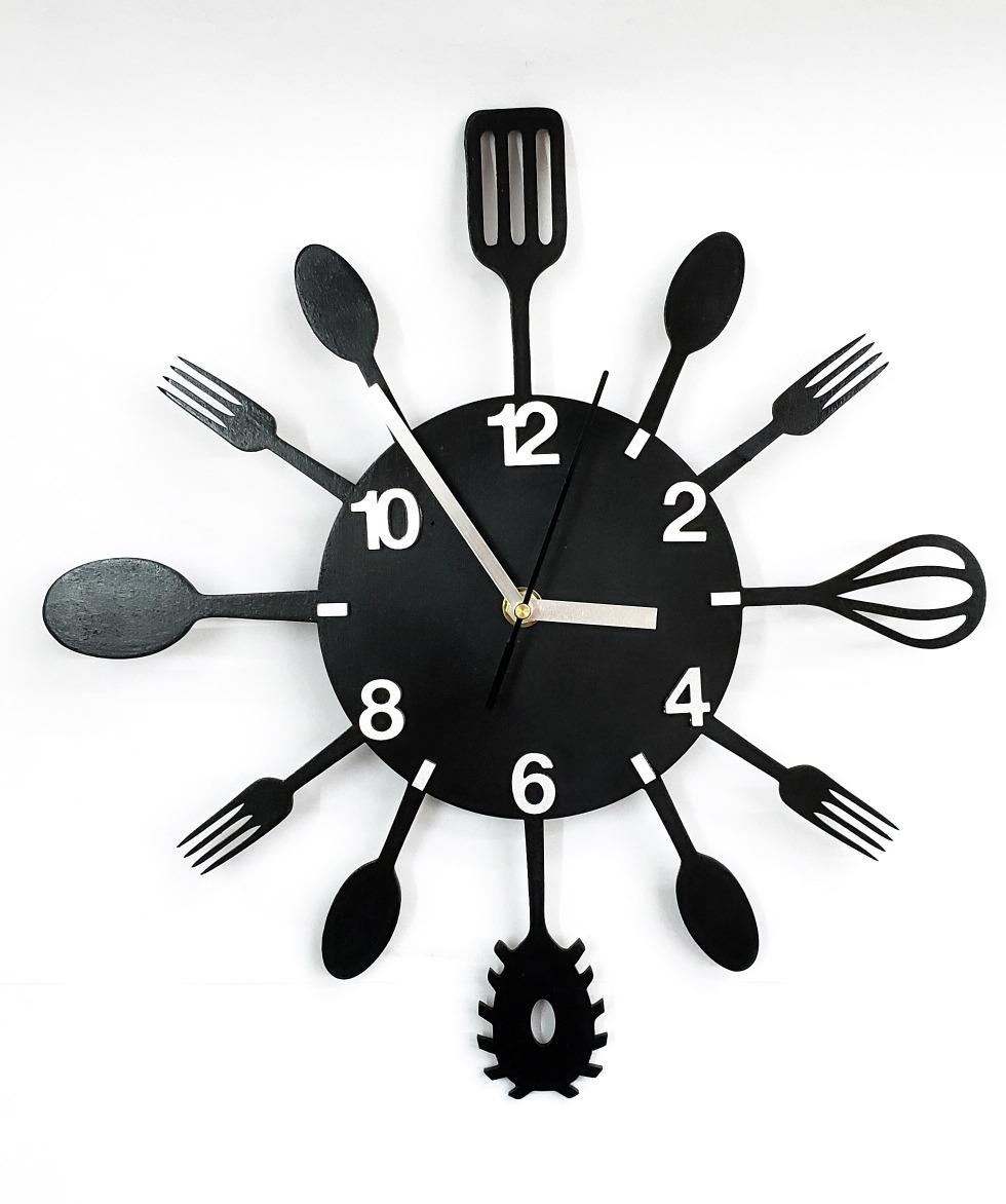 Reloj De Diseño Calado Cubiertos Utensilios De Cocina 30cm