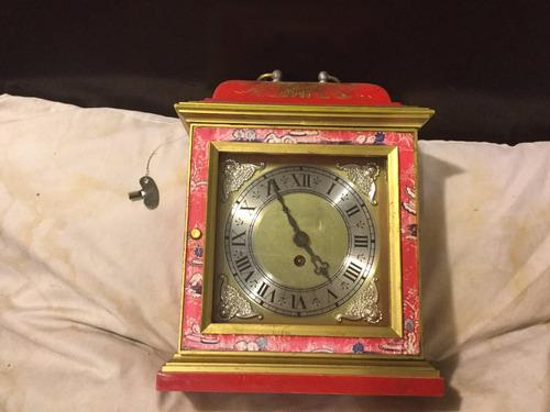 reloj de escritorio de cuerda baxter london 60s