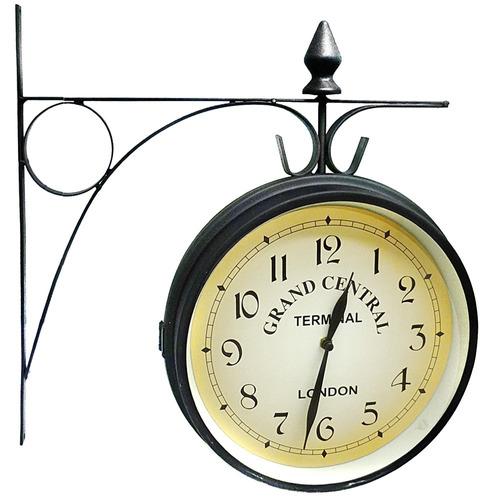 reloj de estación d pared colgante hierro grande vintage pc