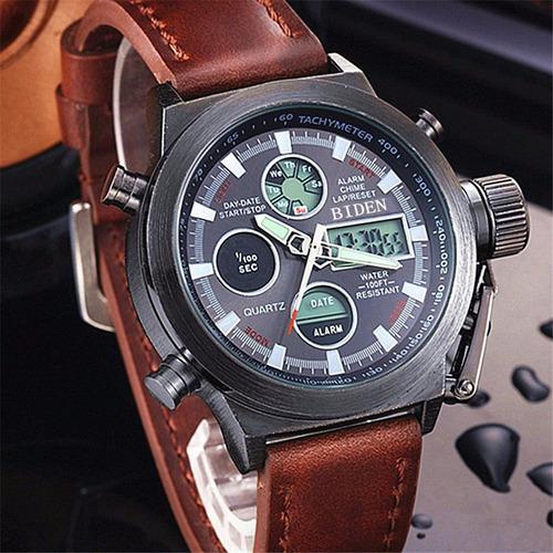 reloj de hombre biden, con pantalla led digital y calendario
