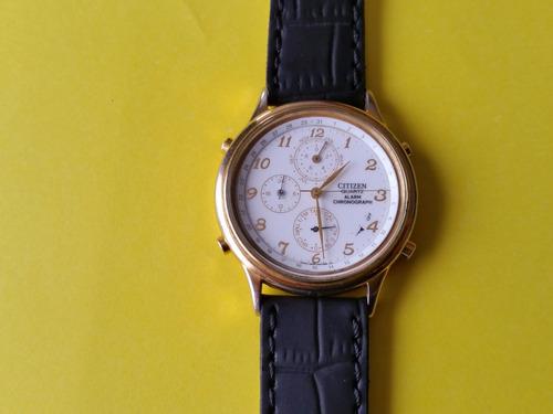 reloj de hombre citizen a cuarzo, con alarma