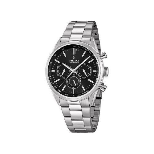 reloj de hombre cronómetro festina f16820/4 fondo negro
