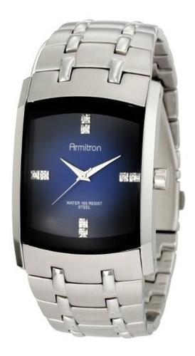 reloj de hombre de acero inoxidable armitron 204507dbsv con