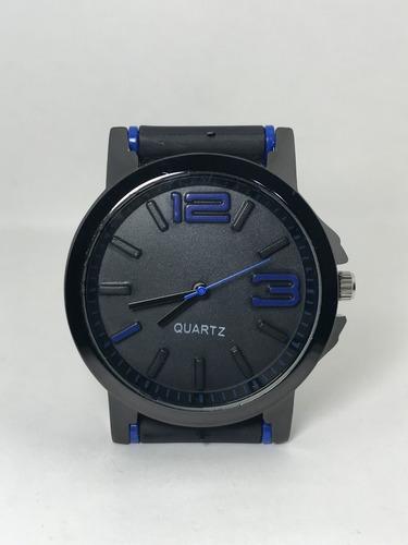 reloj de hombre deportivo malla de goma 2019 x 5 unidades ! *** full-time mania *** mercadolider platinum !!