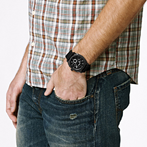 reloj de hombre fossil fs4487 negro promo